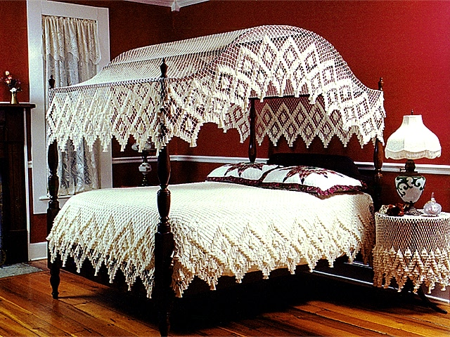 Coverlet & Heirloom Fishnet Bed Canopy of North Carolina - Other Items
